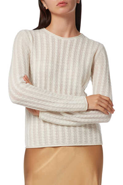 Tiny Cable Knit Pullover