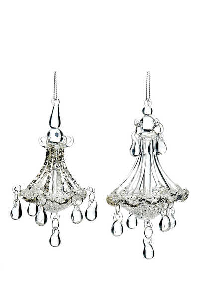 Chandelier Ornaments, Set of Two