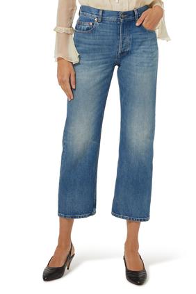 Eco Washed Organic Denim Trousers