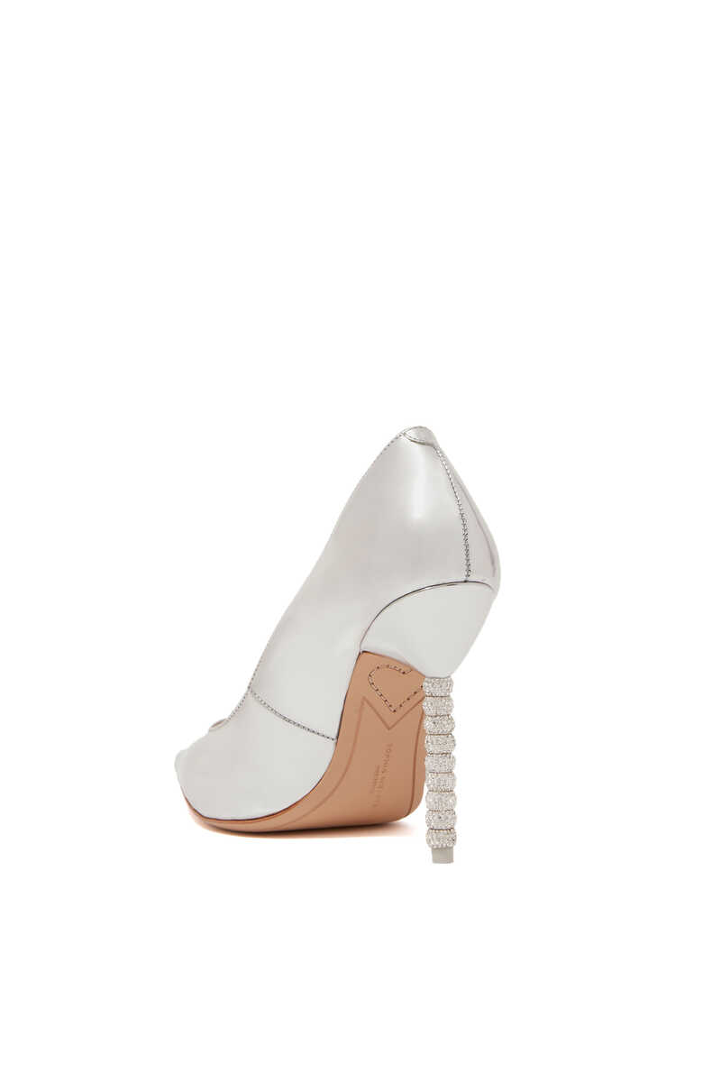 Silver Coco Crystal Pumps image number 3