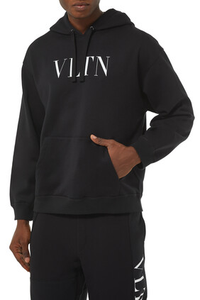 VLTN Logo Cotton Hooded Sweatshirt