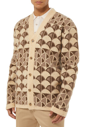 Patterned Knit Cardigan