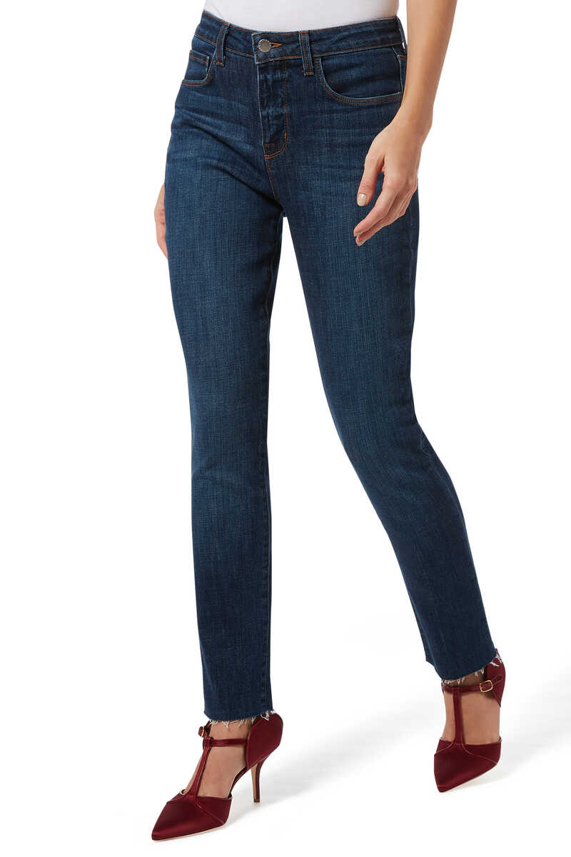 Luna High Rise Straight Jeans image number 1