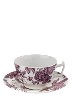 Kingsley White Tea Cup & Saucer set of 4
