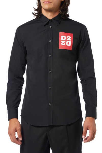 Poplin D2 Print Shirt