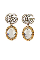 Double G Earrings With Crystals