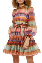 The Lovestruck Rainbow Mini Dress