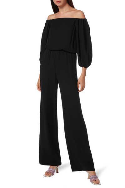 Off-the-Shoulder Silk Jumpsuit