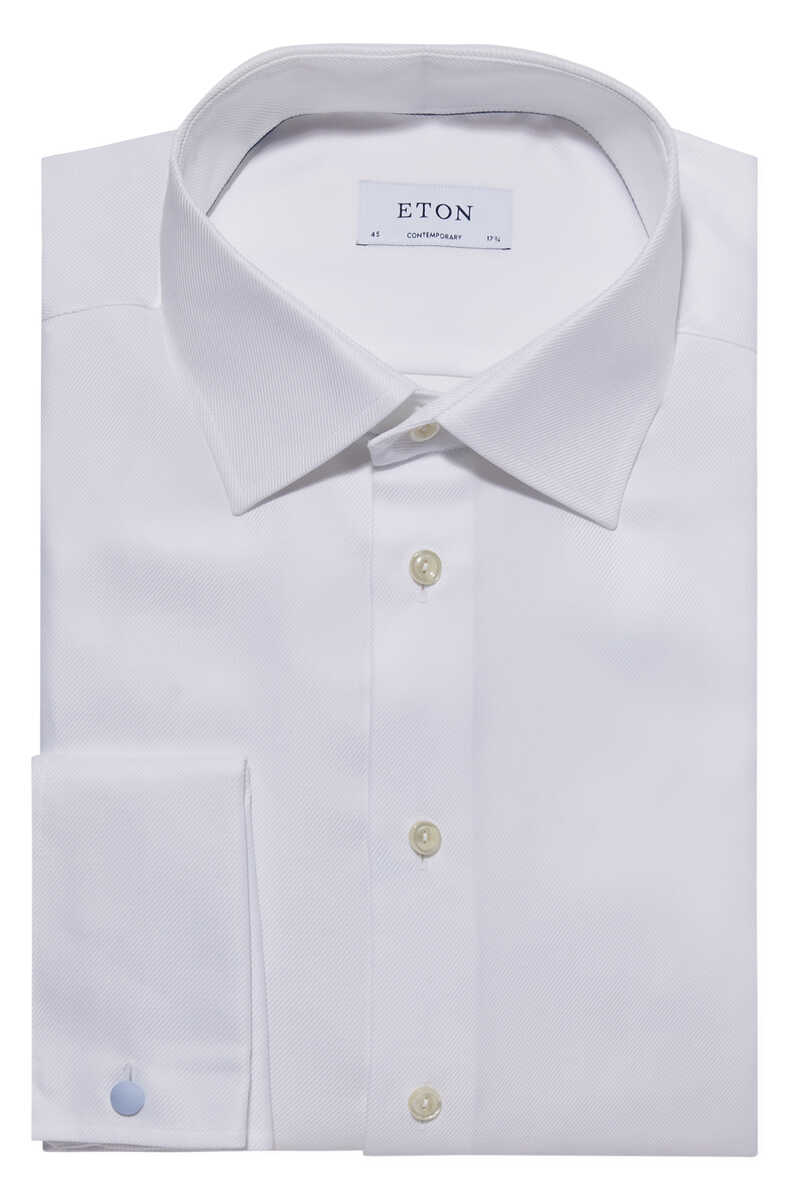 Contemporary Fit Textured Twill Shirt image number 1