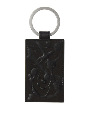Paint-Print Leather Key Ring