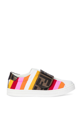 Striped Leather Sneakers