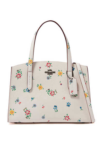 Charlie Carryall 28 Wildflower Print Leather Bag