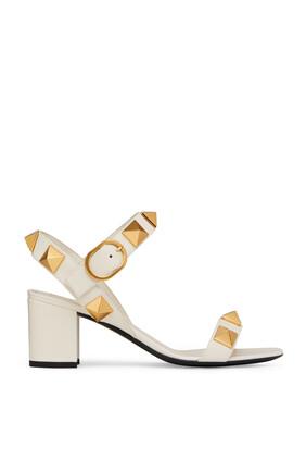 Valentino Garavani Leather Roman Studs Sandals