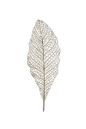 Open Leaf Glitter Stem