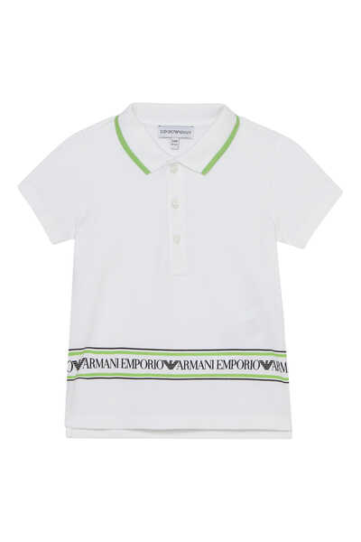 Logo Tape Polo T-Shirt