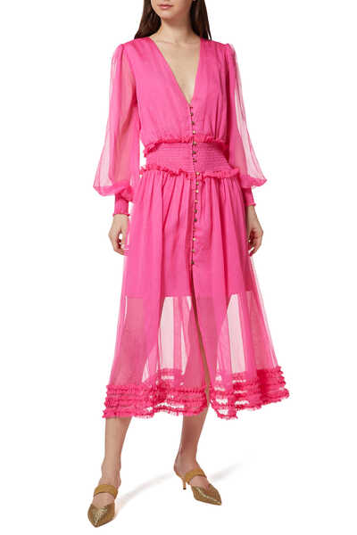 Moonlight Chiffon Midi Dress