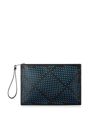 Medium Perforated Leather Pouch