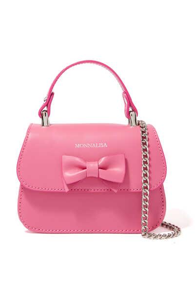 Bow Detail Top Handle Bag