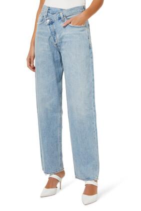 Criss Cross Upsized Jeans