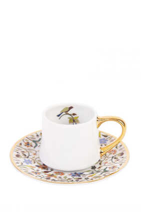 Majestic Espresso Cups and Saucers, Set of Two