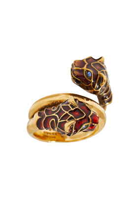 Tiger Head Ring