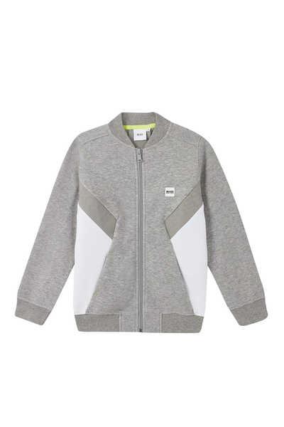 Contrast Jersey Sweatshirt