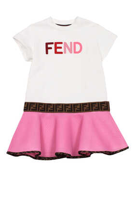 Logo FF Band Cotton T-Shirt Dress