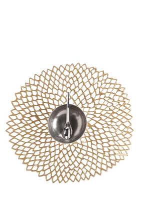 Dahlia Round Vinyl Placemat