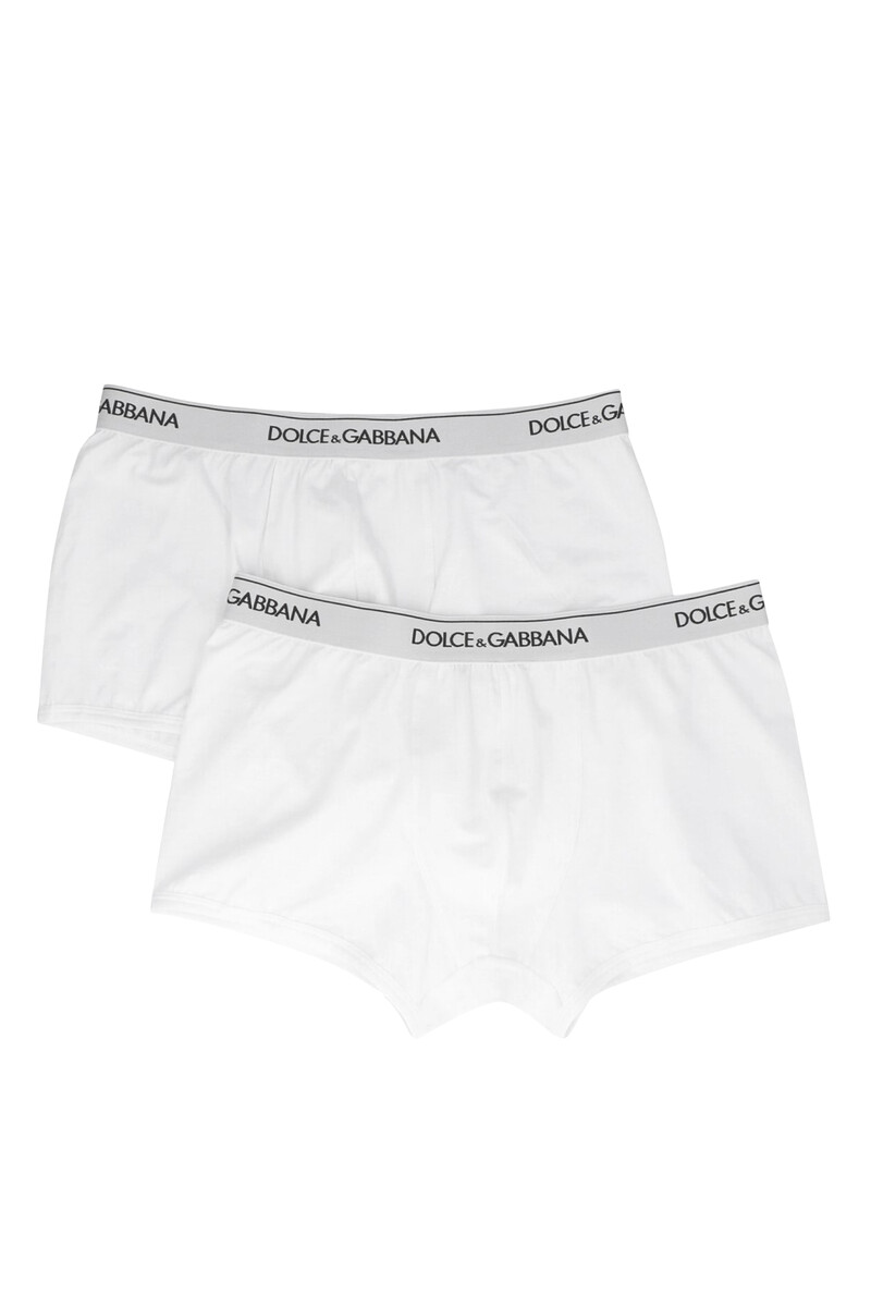 Logo Waistband Cotton Boxers, Pack of Two image number 1