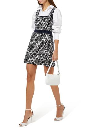 Jacquard Knit A-line Mini Skirt
