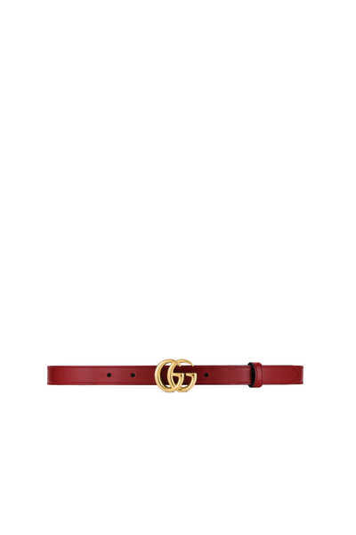 GG Marmont Slim Leather Belt