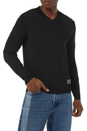 VLTN Tag V-Neck Sweatshirt