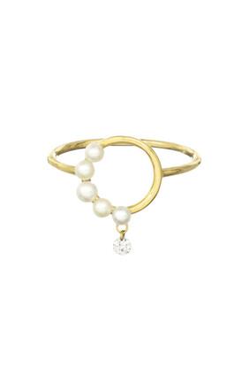 Half Beaded Aphrodite Ring