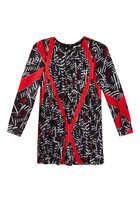 Graphic Crepe De Chine Dress