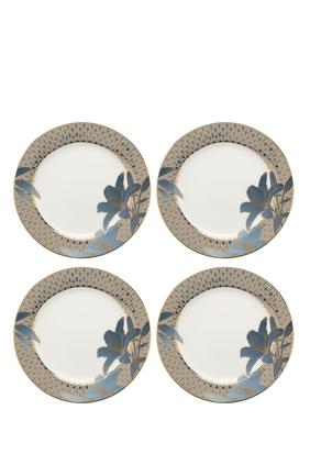Royal Worcester Blue Lily Salad Plates, Set of 4