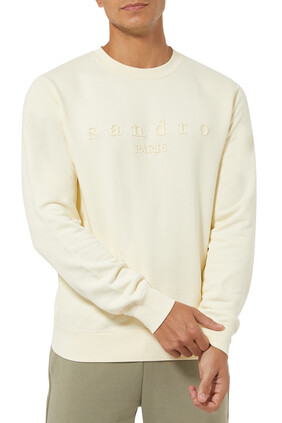 Embroidered Logo Organic Cotton Sweatshirt