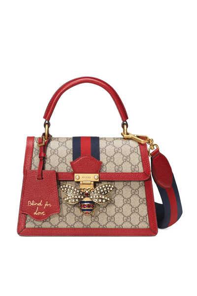 GG Supreme Queen Margaret Small Top Handle Bag