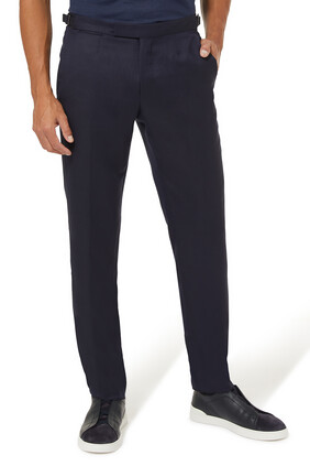 Garment-Dyed Linen Trousers