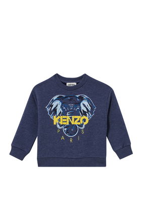 Elephant Print Sweater