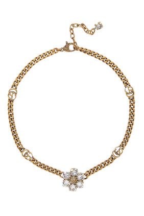 Crystal Double G Necklace
