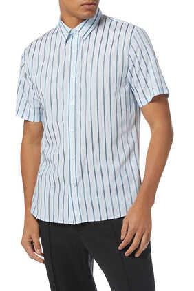 Vertical Stripe Cotton-Blend Shirt