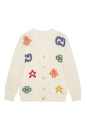 Cotton Cardigan with Symbols