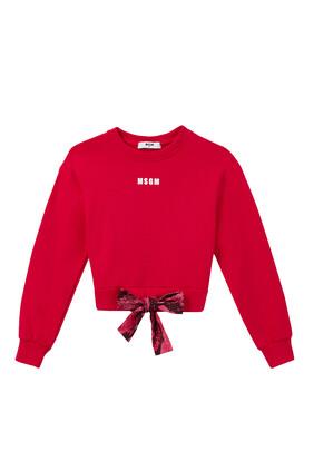 Logo Tie Waist Sweatshirt