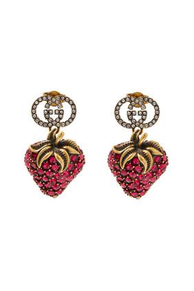 Strawberry Pendant Earrings