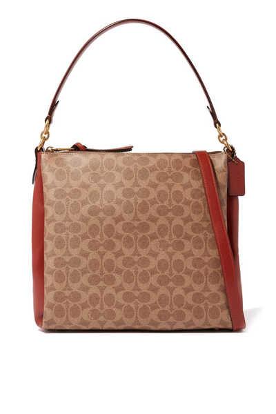 Shay Signature Canvas Shoulder Bag
