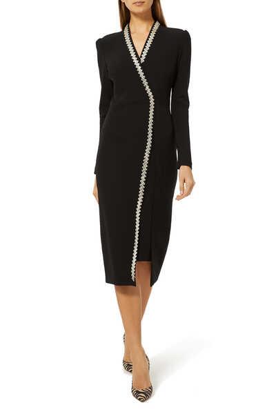 Amber Crystal Embellished Dress