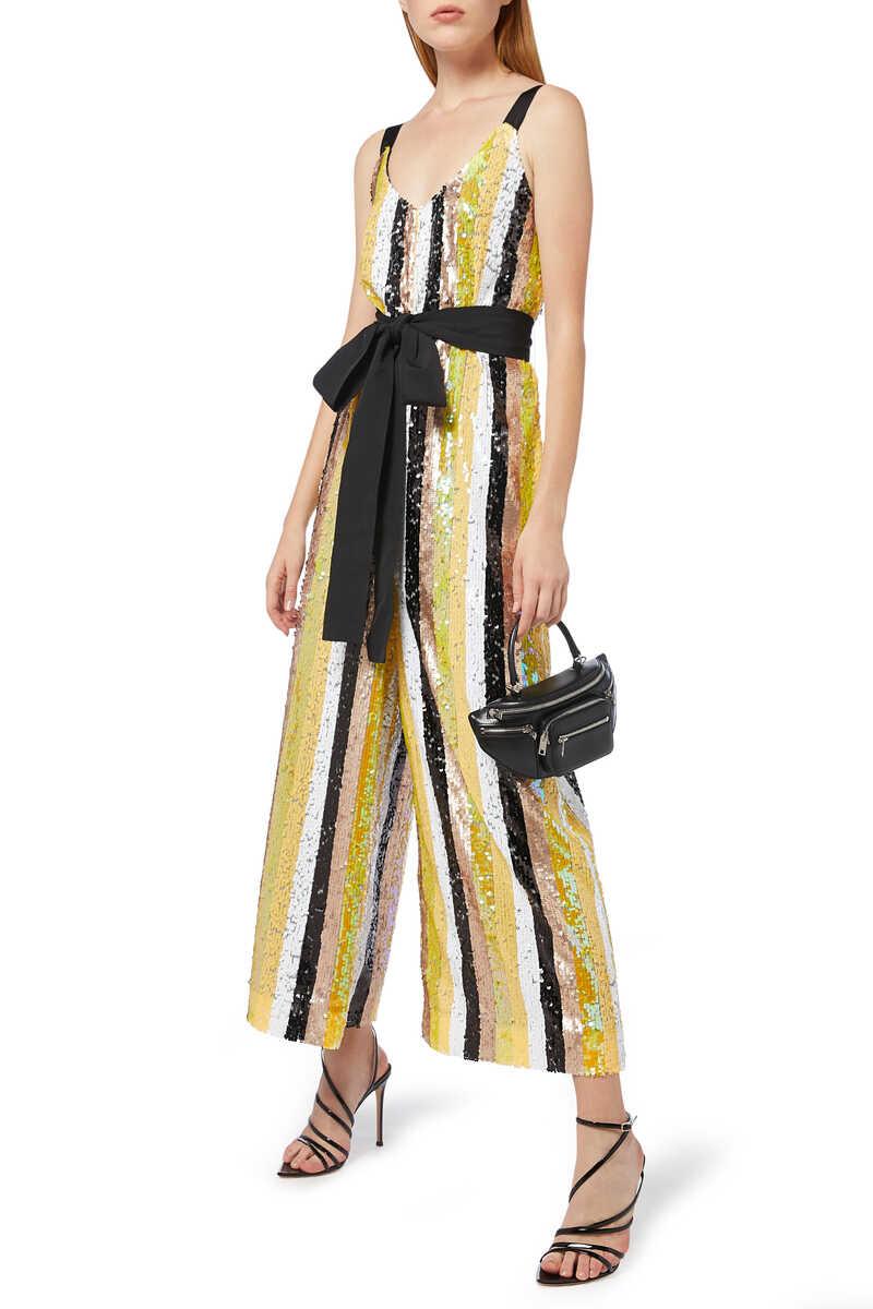 Puli Sequin Striped Jumpsuit image number 2