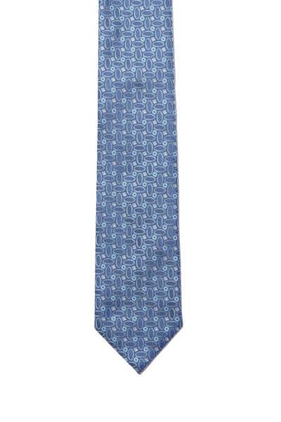 Geometric Oval Print Tie