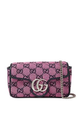 GG Marmont Multicolour Super Mini Bag