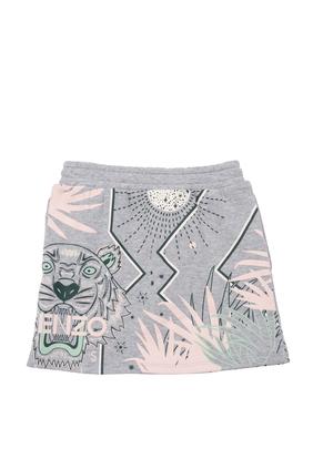 Tiger Print Skirt